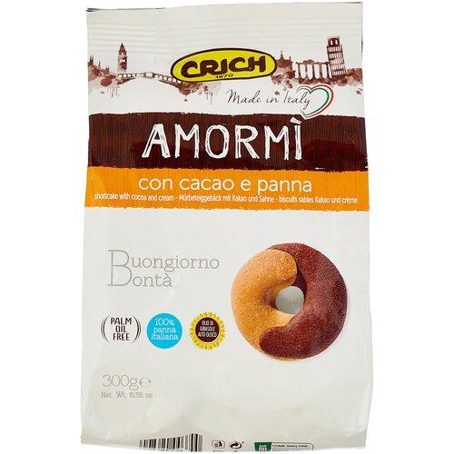 Печенье Crich Amor Mi песочное с какао и сливками, 300 г