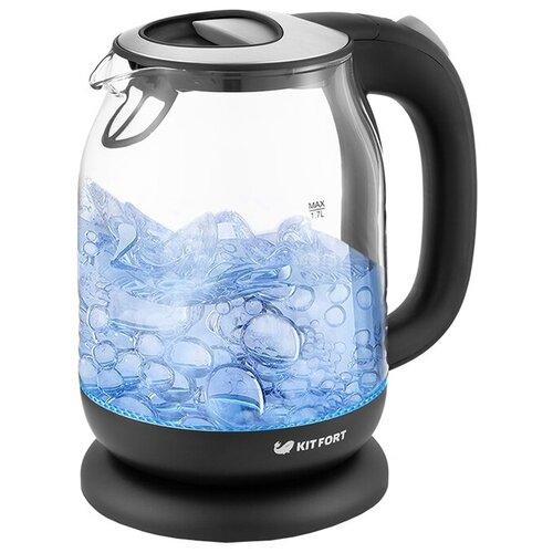 Чайник Kitfort KT-654-5, черный/серый