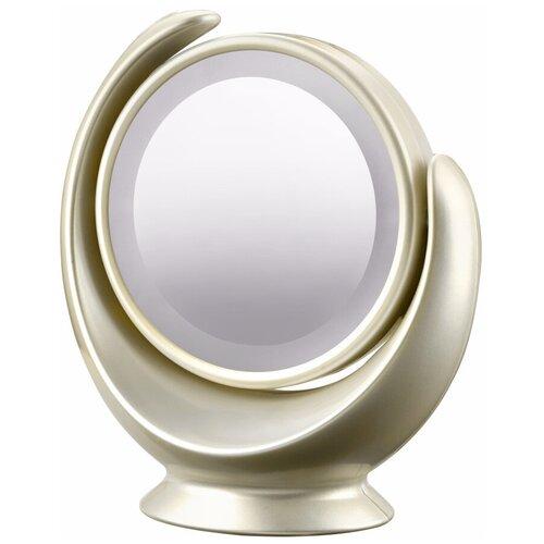 Зеркало косметическое настольное MARTA MT-2360 с подсветкой молочный жемчуг