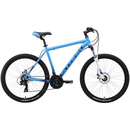 Горный (MTB) велосипед STARK Indy 26.2 D (2019) голубой/синий/белый 16