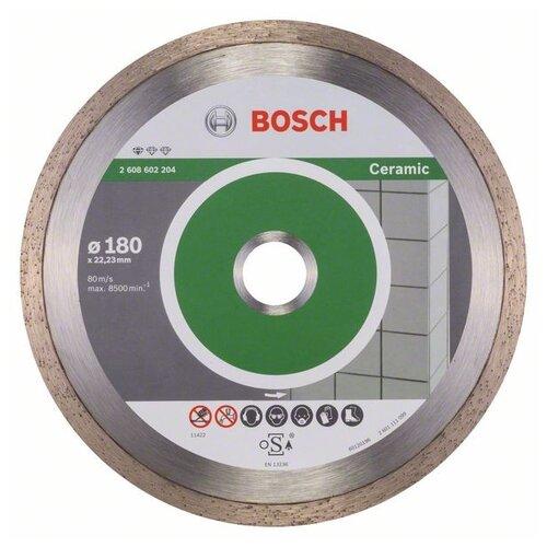 Фото - Диск алмазный отрезной BOSCH Standard for Ceramic 2608602204, 180 мм 1 шт. диск алмазный отрезной bosch standard for ceramic 2608602201 115 мм 1 шт