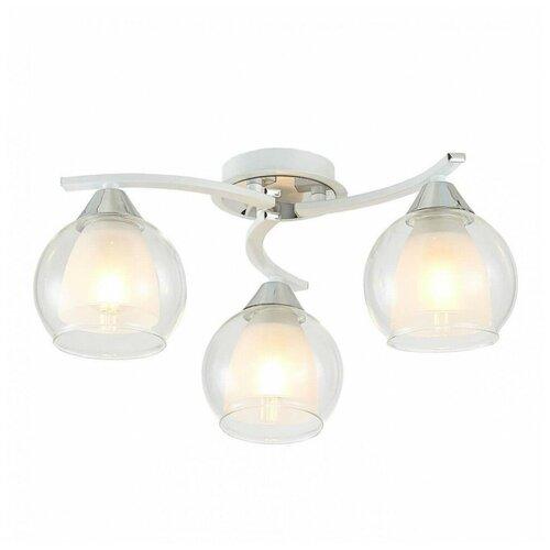 Люстра Citilux CL152130, E27, 225 Вт, кол-во ламп: 3 шт., цвет арматуры: хром, цвет плафона: белый
