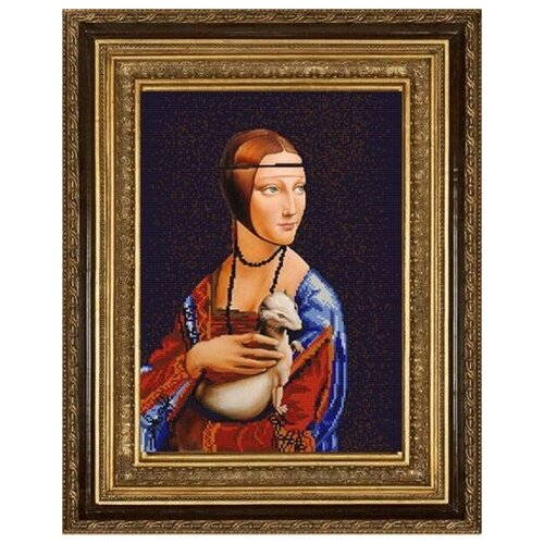 Купить Рисунок на ткани «Конёк» 9752 Дама с горностаем, 29x39 см, Наборы для вышивания