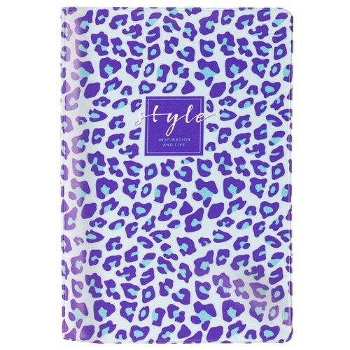 Обложка для паспорта MESHU Lilac spots, голубой/фиолетовый