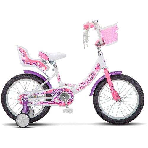 """Детский велосипед STELS Echo 16 V020 (2019) белый/розовый 9.5"""" (требует финальной сборки)"""