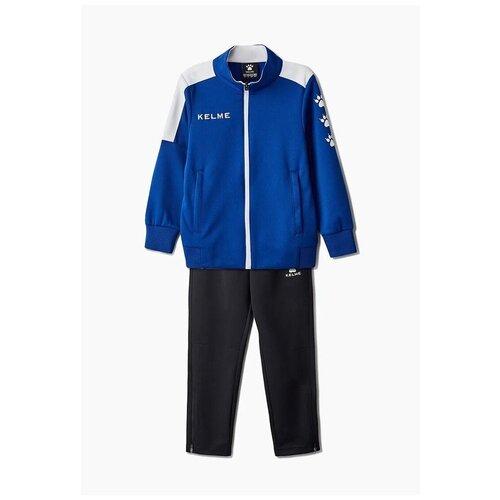 Детский спортивный костюм Kelme Tracksuit, синий / черный, размер 150