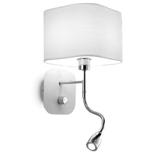 Бра IDEAL LUX Holiday AP2 Bianco, с выключателем, 41 Вт бра ideal lux moris ap2 bianco