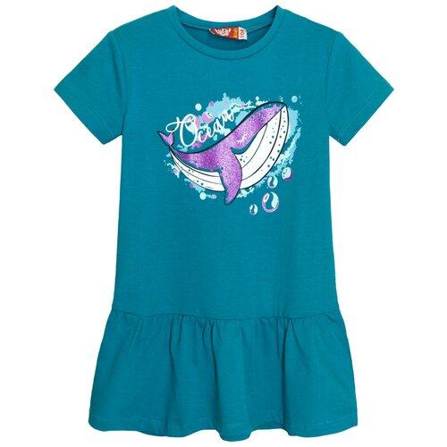 платье для девочки acoola pomelo цвет голубой 20220200368 400 размер 104 8205 Платье для девочки бирюзовый, размер 104-56