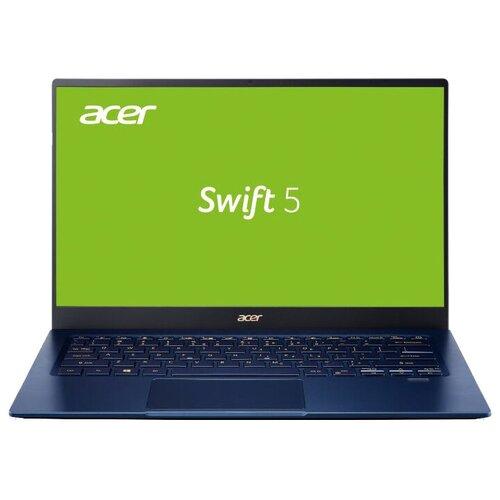 "Ноутбук Acer SWIFT 5 SF514-54GT-724H (Intel Core i7 1065G7 1300MHz/14""/1920x1080/16GB/1024GB SSD/32GB Optane/DVD нет/NVIDIA GeForce MX350 2GB/Wi-Fi/Bluetooth/Windows 10 Pro) NX.HU5ER.002 синий"