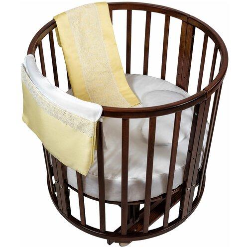 спальные конверты chepe нежность Комплект в люльку Chepe for Nuovita Tenerezza / Нежность 3 предмета (бело-желтый)