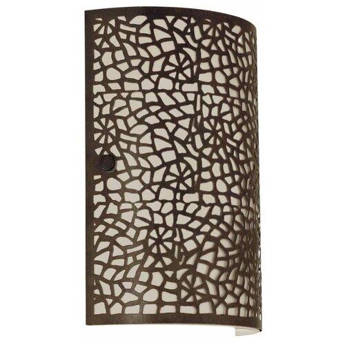 Настенный светильник Eglo Almera 89115, E14, 60 Вт, цвет арматуры: коричневый, цвет плафона: коричневый настольная лампа eglo almera 89116 60 вт