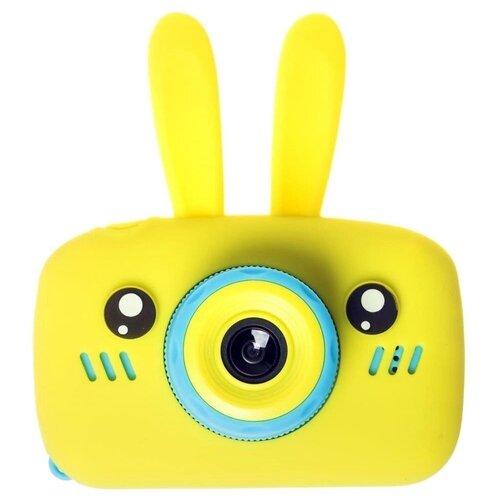 Фото - Фотоаппарат GSMIN Fun Camera Rabbit с играми желтый фотоаппарат children s fun camera микки с wi fi красный