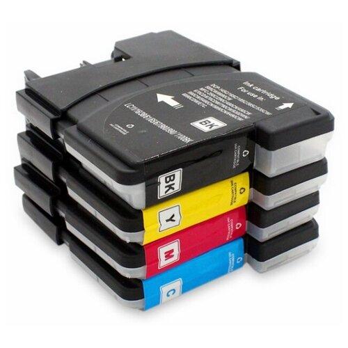 Комплект картриджей LC1100/LC980 для принтеров Brother DCP-195/DCP-6690 4 цвета (black - черный cyan - голубой magenta - пурпурный yellow - желтый) совместимый
