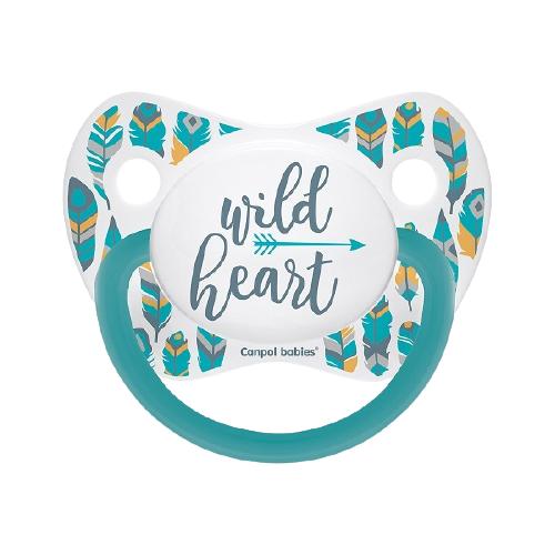 Купить Пустышка силиконовая ортодонтическая Canpol Babies Wild Nature 6-18 м, бирюзовый, Пустышки и аксессуары