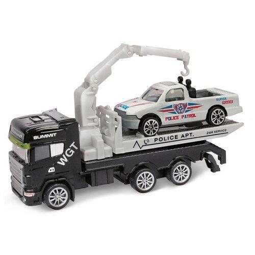 Фото - Набор машин Пламенный мотор 870520, 12 см, черный/белый эвакуатор пламенный мотор 870364 13 см белый