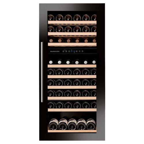 Фото - Встраиваемый винный шкаф Dunavox DAB-89.215DB винный шкаф 81 л на 32 бутылки монотемпературный серый dau 32 81ss dunavox