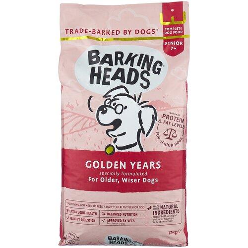 Сухой корм для пожилых собак Barking Heads Золотые годы, курица, с рисом 12 кг сухой корм для собак barking heads ягненок 12 кг для крупных пород