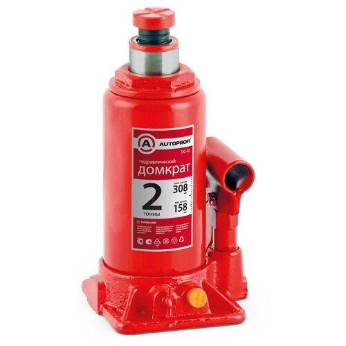 Фото - Домкрат бутылочный гидравлический AUTOPROFI DG-02 (2 т) красный аксессуары для автомобиля autoprofi домкрат бутылочный гидравлический 2 тонны dg 02k