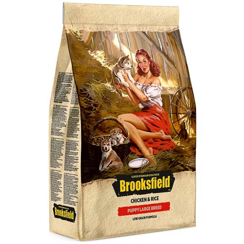 Сухой корм для щенков BROOKSFIELD курица 12 кг (для крупных пород) сухой корм для собак brooksfield курица с рисом 3 кг для крупных пород