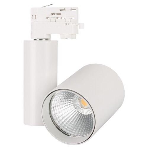 Трековый светильник-спот Arlight LGD-SHOP-4TR-R100-40W White6000 (WH, 24 deg) трековый светильник спот arlight lgd loft track 4tr s170 20w white6000 wh 24 deg