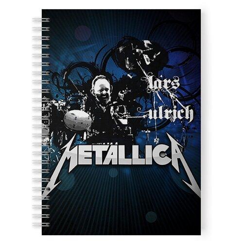Купить Тетрадь 48 листов в клетку с рисунком METALLICA Lars Ulrich, Drabs, Тетради