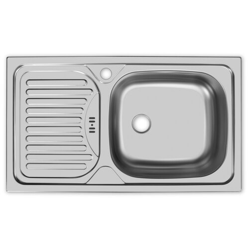 Врезная кухонная мойка 76 см, UKINOX Classic CLM 760.435-GW6K 1R, матовая