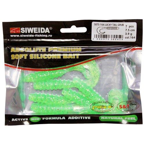 Набор приманок резина SIWEIDA Lucky Tail Grub твистер цв. 164 7 шт.
