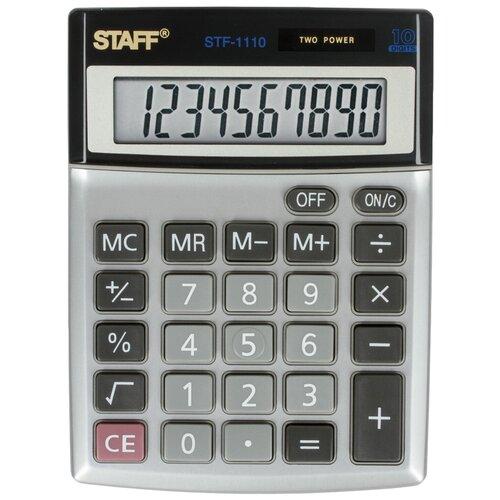 Калькулятор настольный STAFF STF-1110 металлик
