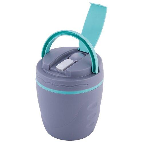 Термос пищевой 1000мл. пластиковый с ёмкостью
