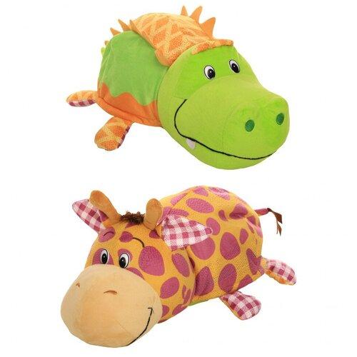 Мягкая игрушка 1 TOY Вывернушка Ням-Ням Крокодильчик-Жираф с ароматом 35 см