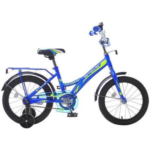 Детский велосипед STELS Talisman 14 Z010 (2018) синий 9.5 (требует финальной сборки) детский велосипед stels jet 14 z010 2018 белый синий 8 5 требует финальной сборки