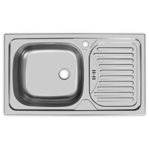 Врезная кухонная мойка 76 см, UKINOX Classic CL 760.435-GW6K 2L, матовая
