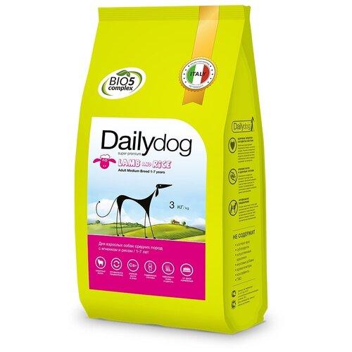 Фото - Сухой корм для собак DailyDog ягненок, с рисом 3 кг (для средних пород) сухой корм для собак vivere ягненок 3 кг для средних пород
