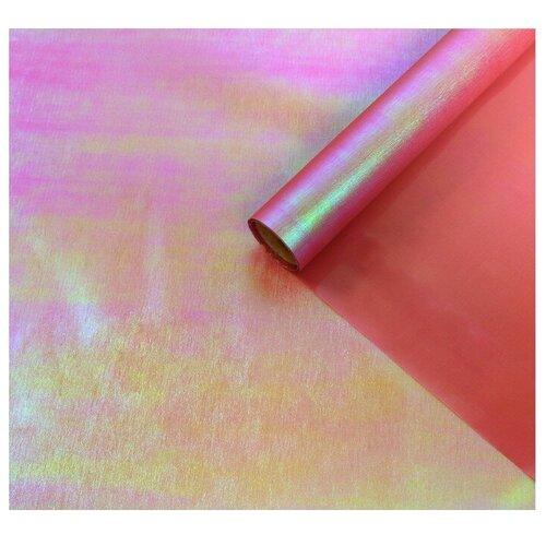 Бумага упаковочная Yiwu Zhousima Crafts Радужная 500 х 60 см темно-розовый