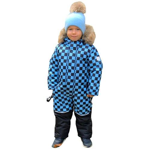 Зимний детский комбинезон Lapland мембрана Квадро размер 98, голубой