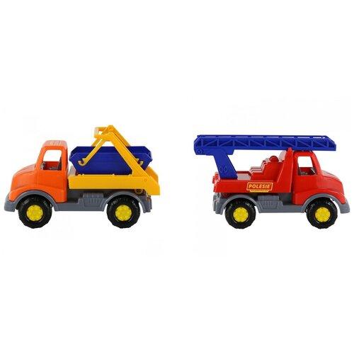 Автомобиль спецтехника Леон, 2 вида (пожарная спецмашина, коммунальная спецмашина)
