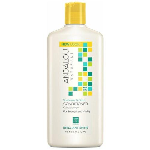 Купить Andalou Naturals кондиционер Brilliant Shine для блеска волос Подсолнечник и цитрус, 340 мл