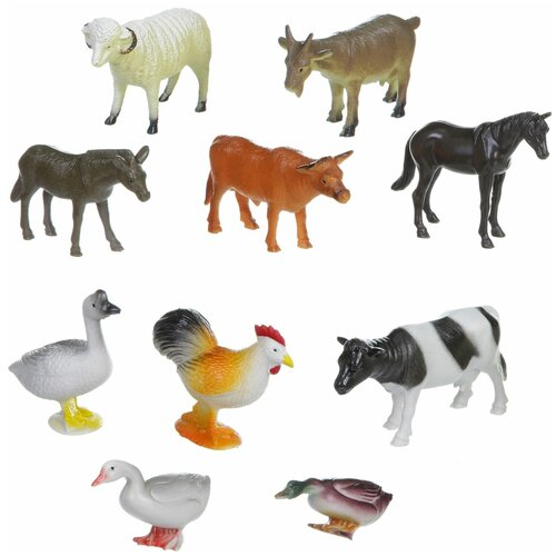 Фото - Игровой набор BONDIBON Ребятам о зверятах - Домашние животные и птицы ВВ1634 фигурки bondibon ребятам о зверятах домашние животные вв1637