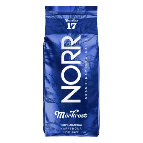 Кофе жареный в зёрнах, NORR MORKROST Blendning 17, 250 гр.