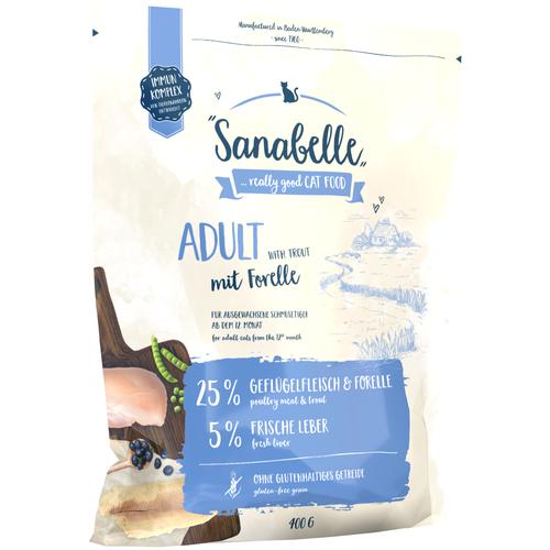 Фото - Сухой корм для кошек Sanabelle для живущих в помещении, с форелью 400 г sanabelle sanabelle snack полувлажное лакомство для кошек для улучшения пищеварения с сайдой и инжиром 55 г