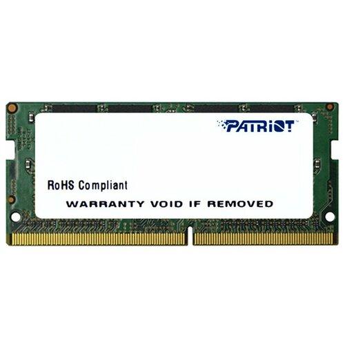 Фото - Оперативная память Patriot Memory SL 4GB DDR4 2133MHz SODIMM 260pin CL15 PSD44G213381S оперативная память patriot memory sl 4gb ddr4 2133mhz dimm 288pin cl15 psd44g213381