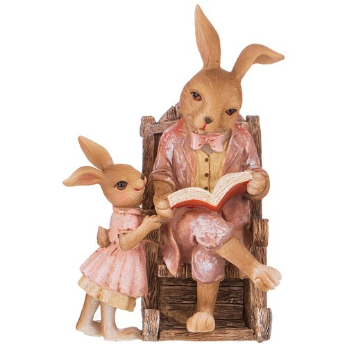 Фигурка кролики 11,5х10,5х17,5 см Lefard (162-890)