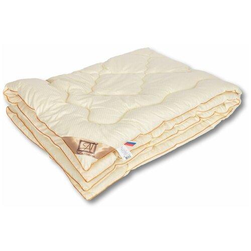 Одеяло АльВиТек Модерато, классическое всесезонное, 172 х 205 см (сливочный)