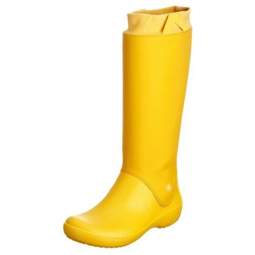 Резиновые сапоги Crocs Women's RainFloe Boot, размер 35(W5), Желтый