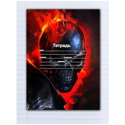 Купить Набор тетрадей 5 штук, 12 листов в линейку с рисунком Ghost Rider, Drabs, Тетради