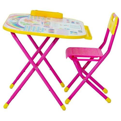 Купить Комплект ДЭМИ стол + стул Дошколёнок 80x55 см розовый, Парты и столы