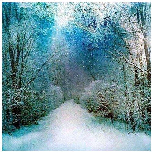 Купить Алмазная вышивка Яркие Грани Снежный путь , размер 50х50см (200х200 кристаллов), 56 цветов
