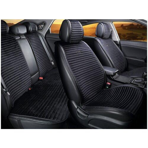 Комплект накидок на автомобильные сиденья CarFashion MONACO PLUS черный/черный/черный/черный