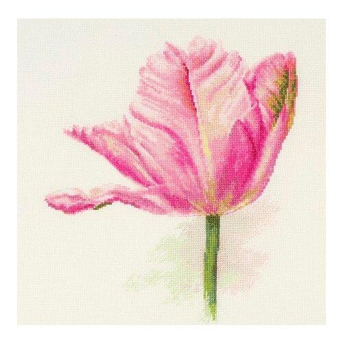 Фото - Набор для вышивания крестиком Алиса Тюльпаны, Нежно-розовый, 22*26 см (2-42) алиса набор для вышивания тюльпаны малиновое сияние 22 x 26 см 2 43