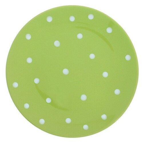 Фото - Доляна Тарелка обеденная Горох 27 см зеленый доляна салатник джавлон 12 см синий зеленый